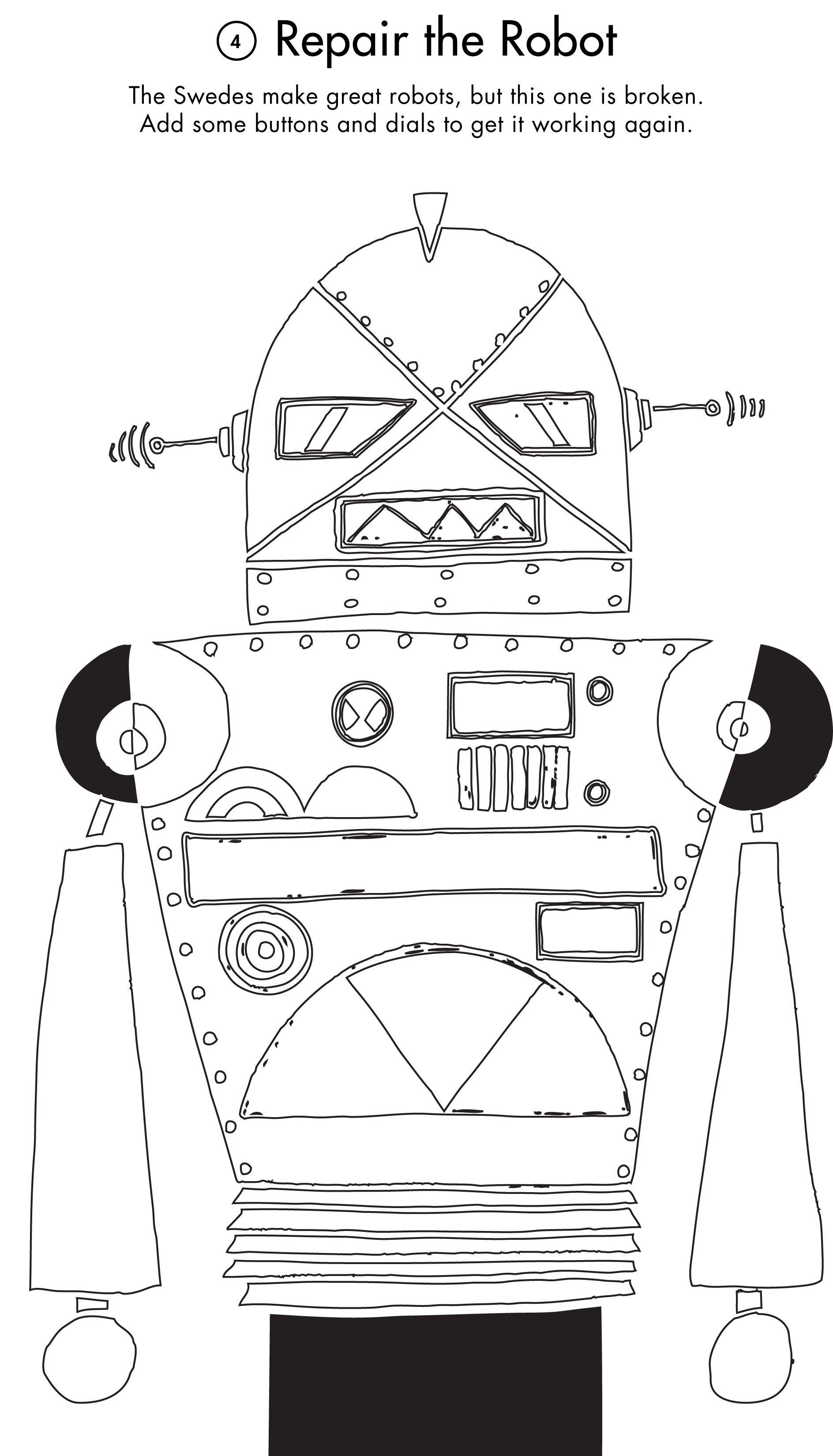 Activity Printout: Repair the Robot | Fun activities for ...
