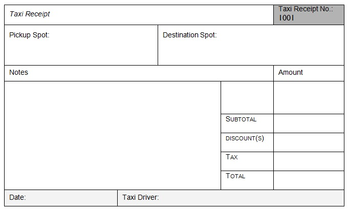 Taxi Fare Receipt Template Invoice Template Receipt Template Invoice Template Word
