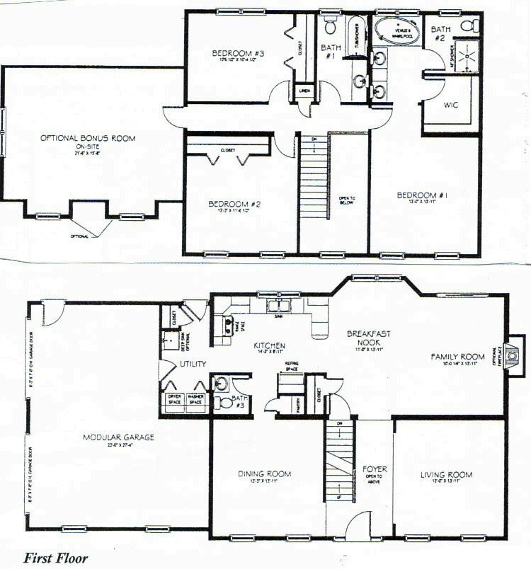 Small 4 Bedroom 2 Bath House Plans Arts | Two story house ...