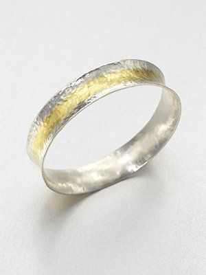Sterling silver and gold bangle by Gurhan