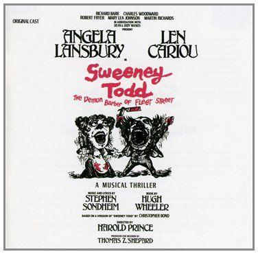 Sweeney Todd The Demon Barber Of Fleet Street 1979 Original Broadway Cast Sweeney Todd Angela Lansbury Broadway