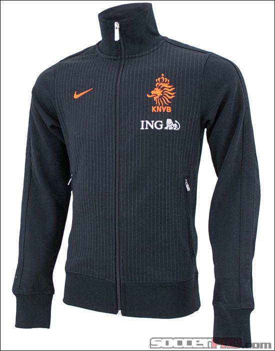 Nike Netherlands Authentic N98 Track Jacket - Black with Safety  Orange... 89.99 64599de32a094