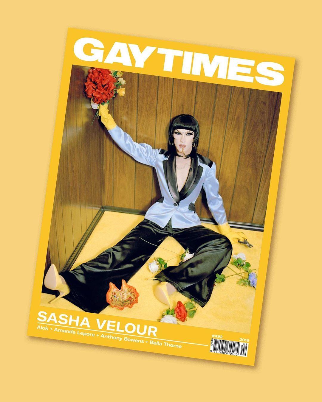 """Sasha Velour on Instagram """"SHE'S A COVER GIRL! For"""