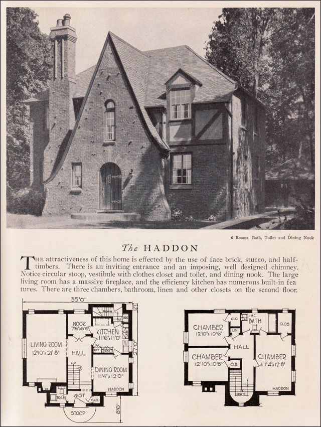 1929 home builders catalog haddon house plan american residential architecture storybook style - Vintage Storybook House Plans