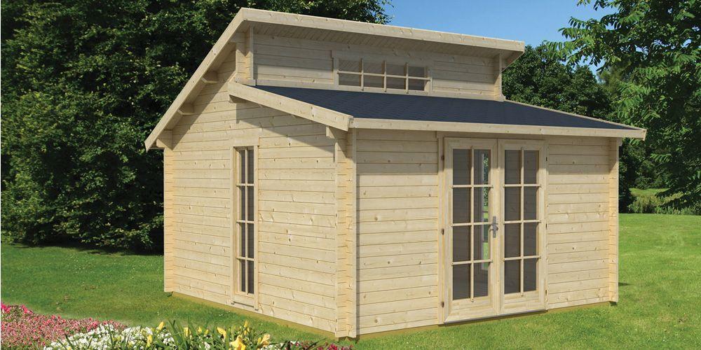 Chalet De Jardin En Bois Rhodos 15 M2 In 2020 Garden Log Cabins Summer House Garden Office