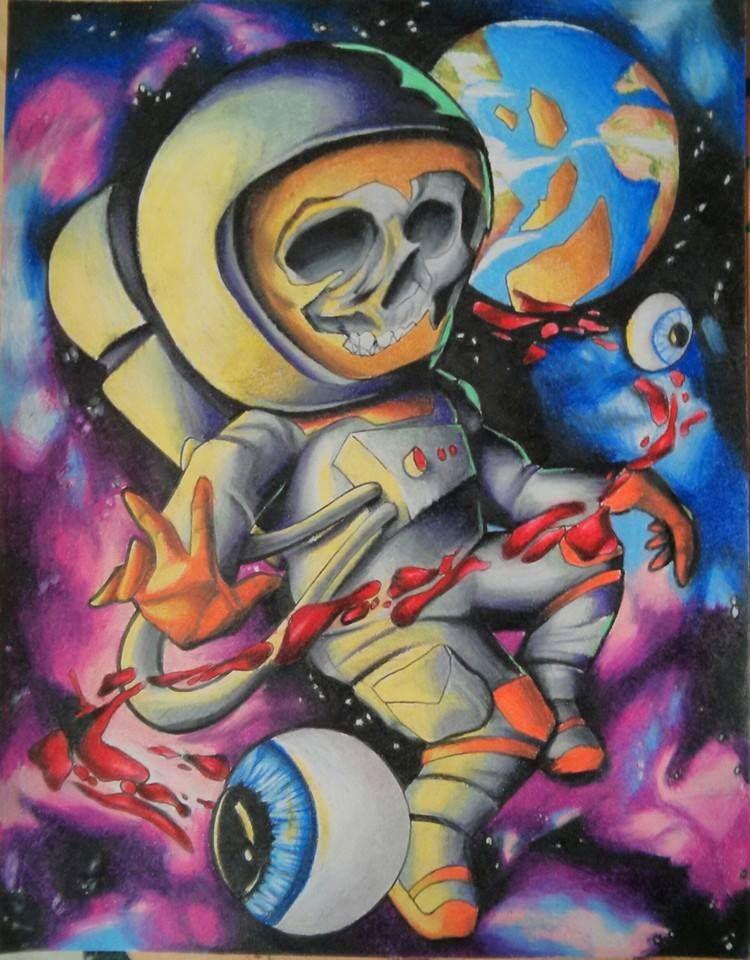 Graffiti Astronaut Artwork Street Art Drawings