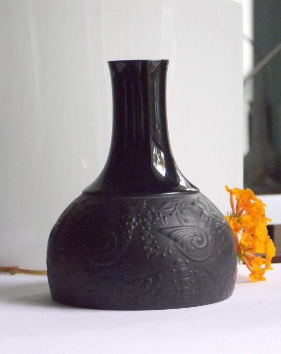 rosenthal vase bjorn wiinblad vase matte noire black porcelain studio line germany 1960s mid. Black Bedroom Furniture Sets. Home Design Ideas
