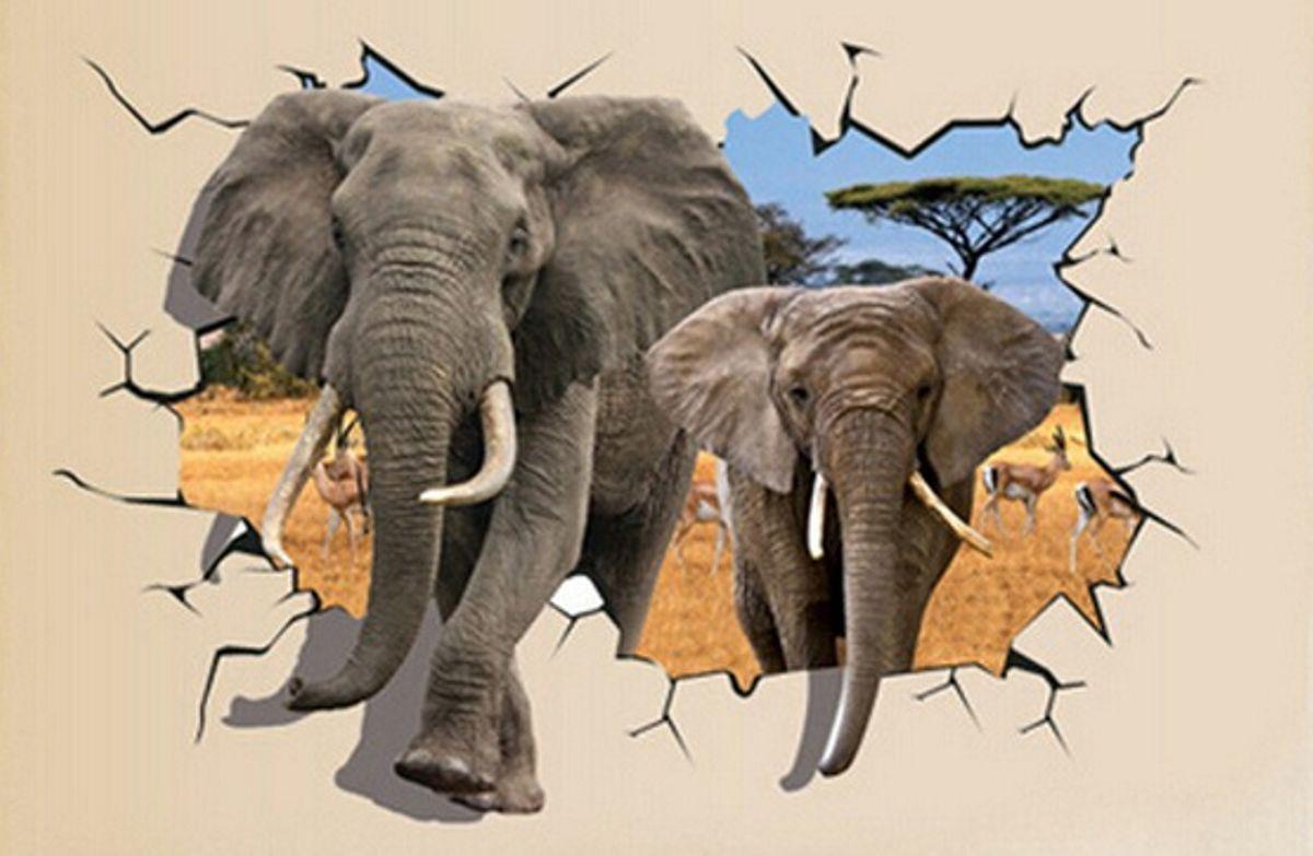 3D Wandtattoo Elefant Wandsticker