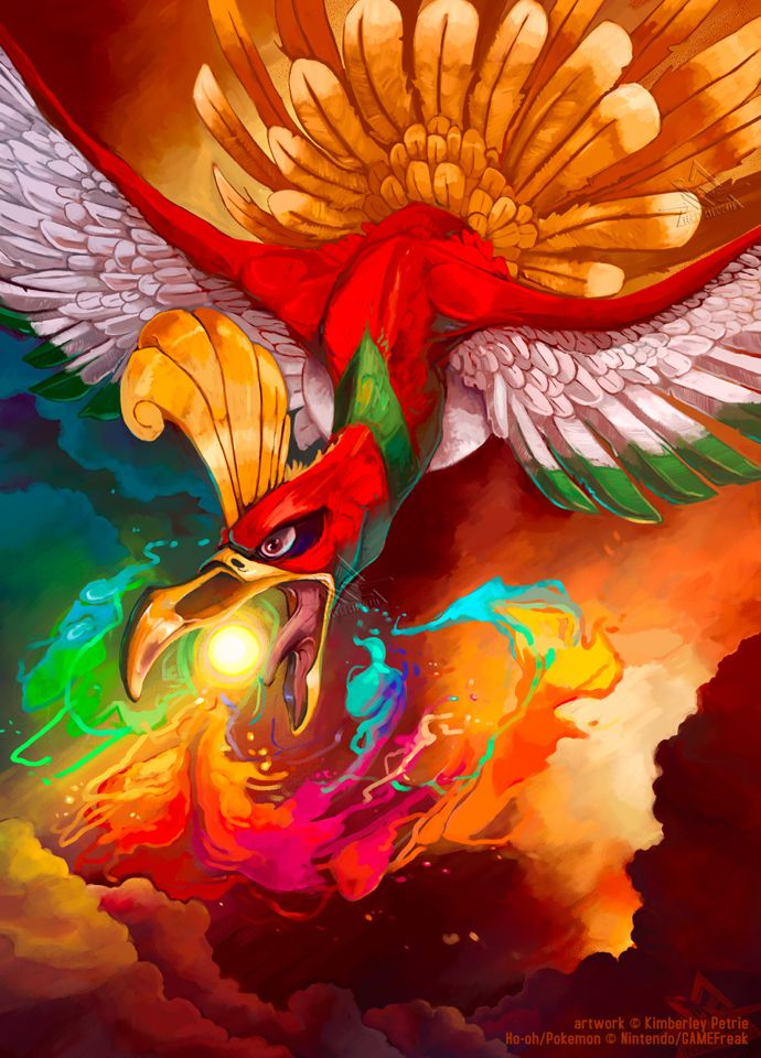 Ho Oh Is One Of My Favorite Pokemon Found On The Gods Of Pixels Tumblr Page Check It Out If You Like Cool Video Game Mus Pokemon Pokemon Art Pokemon Pictures