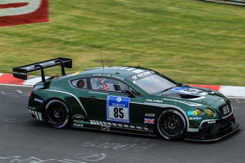 Bentley Continental GT3 - fast and promising giant on the track ...