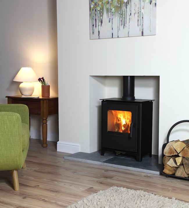 Loxton 6 defra approved multifuel stove fireplace - Living room with wood burning stove ...
