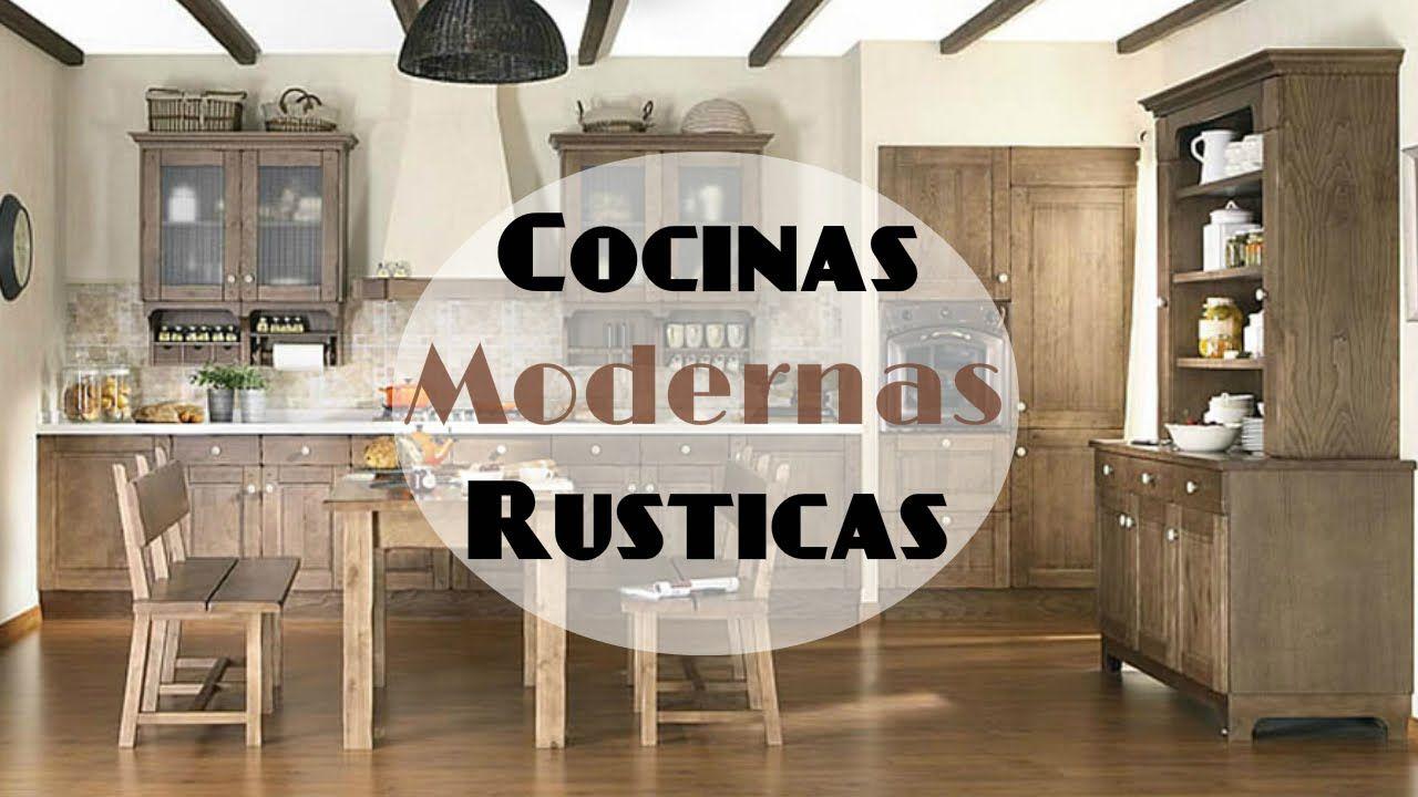 cocinas rústicas con encanto con muebles decapado | Cocinas rusticas ...