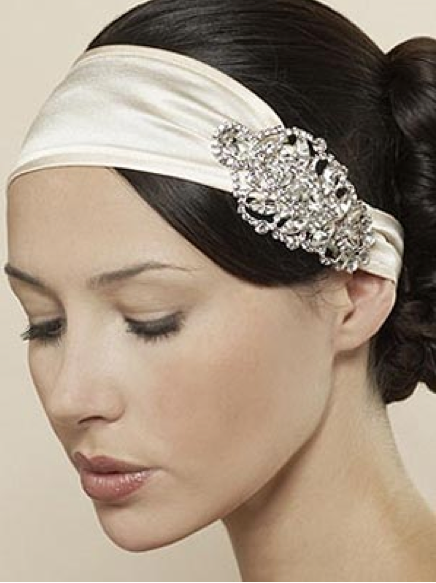Creme Coloured Hair Band And Silver Brooch #travelessentials
