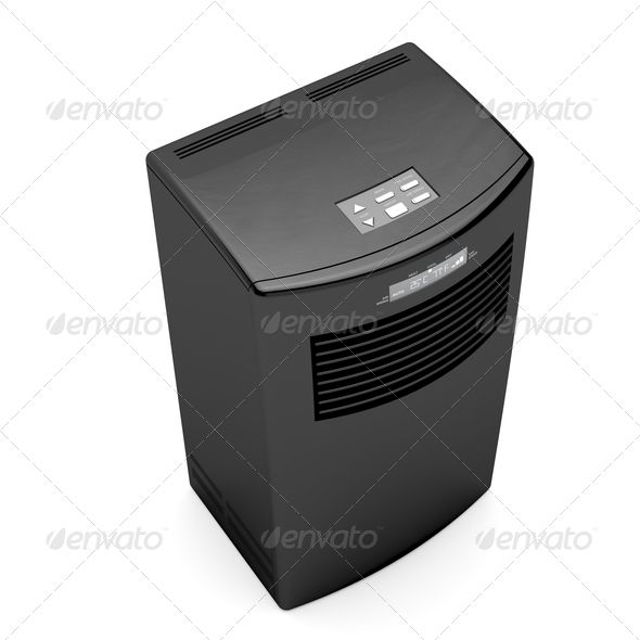 Black mobile air conditioner. http://photodune.net/item/black-mobile-air-conditioner/1309871