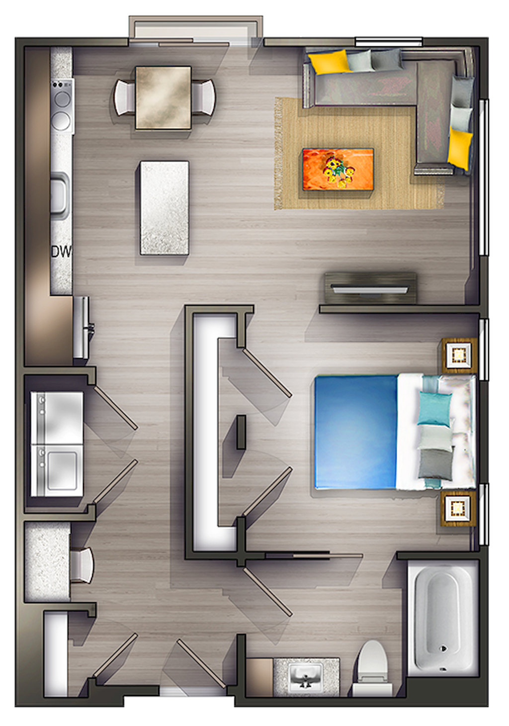100 Small Studio Apartment Layout Design Ideas Home Design Plantas De Estudios Layout De Apartamento Layout De Um Apartamento Estilo Estudio