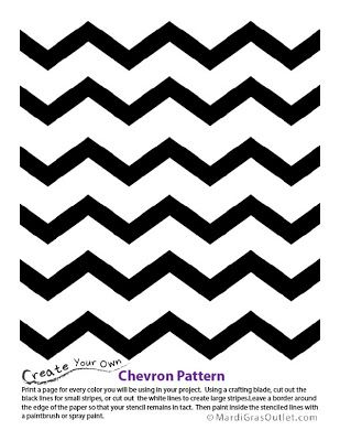 graphic regarding Free Printable Chevron Pattern named Chevron Behavior Stencil: No cost Printable Tutuorials