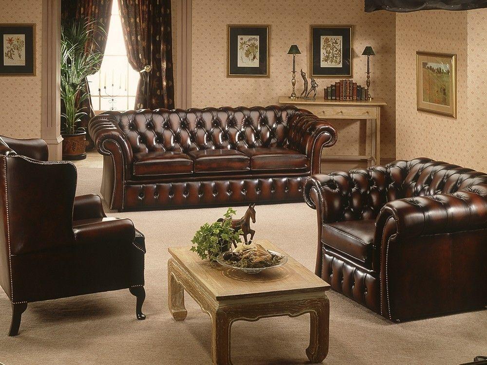 gladbury traditional leather sofa sitting room leather. Black Bedroom Furniture Sets. Home Design Ideas