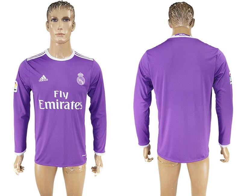 16 17 Real Madrid Away Long Sleeve Purple Rm Soccer Jersey Football Jerseys Man Shirt Men Shirts Cheap Tops 1 1 Long Sleeve Tshirt Men Mens Shirts Long Sleeve