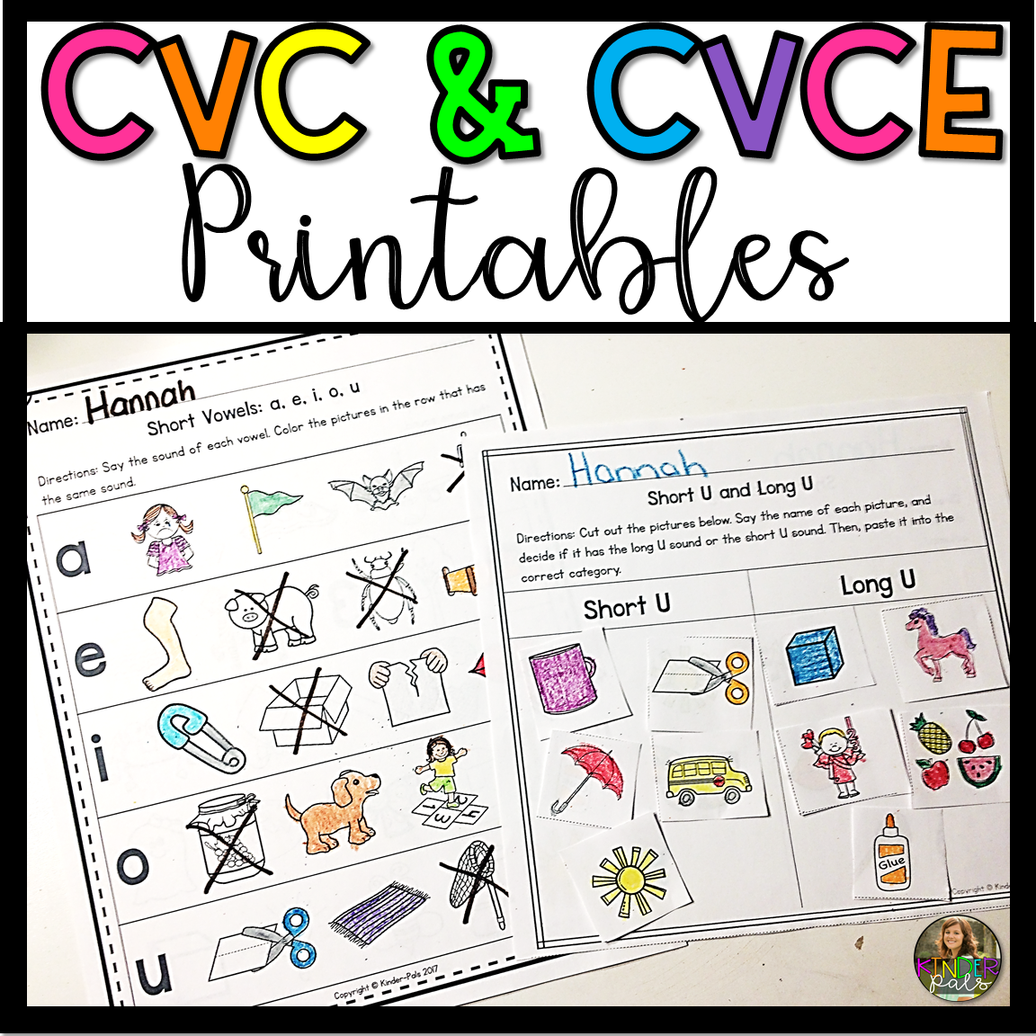 Cvc And Cvce Worksheets From Kinder Pals