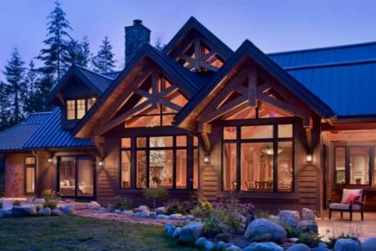 Washington State timber home | Dream Home Touches in 2019