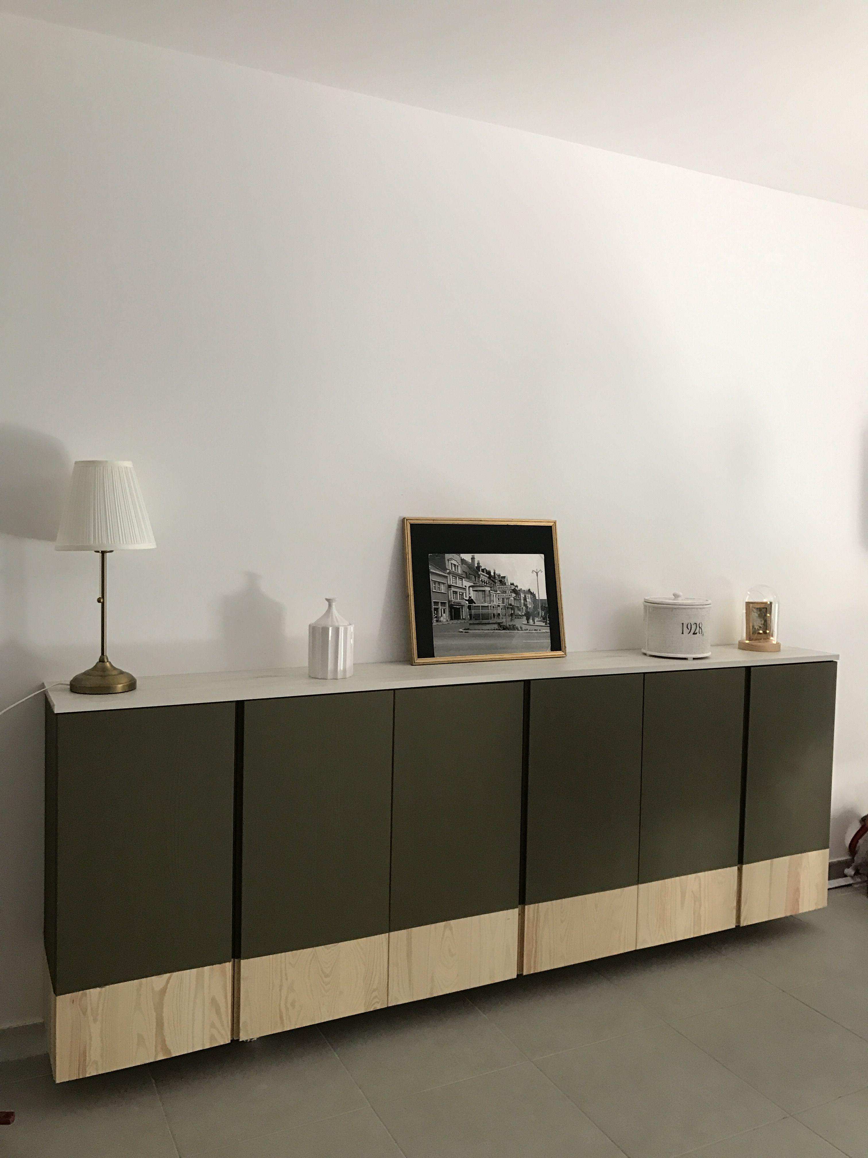 meuble ikea ivar peint bi ton peinture leroy merlin vert botanique n 1 esprit chic cosy. Black Bedroom Furniture Sets. Home Design Ideas