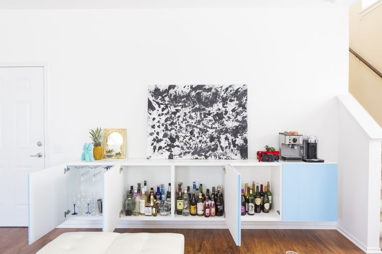 Ikea Besta Regal Aufbewahrungssystem Haus Bar Weiss Tuerfronten