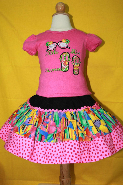 a93c614fec5f Girls Summer skirt set