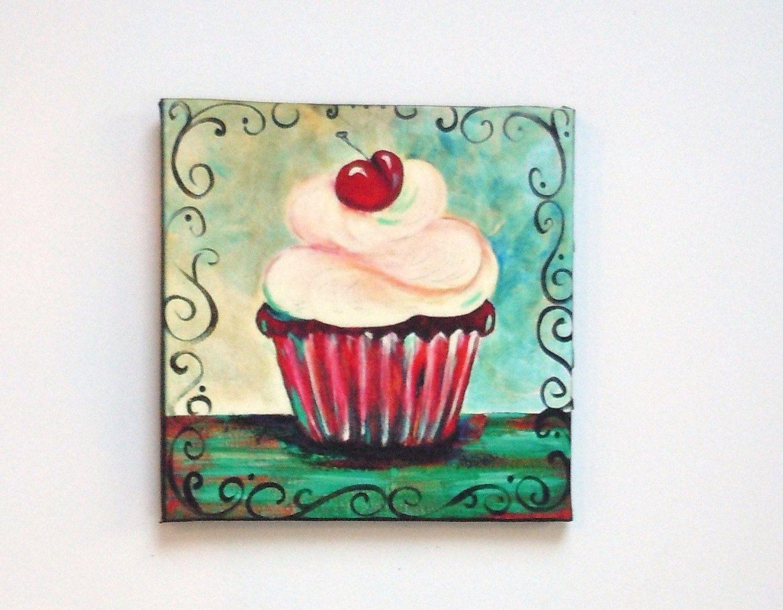og Cupcake Queen fridge magnet