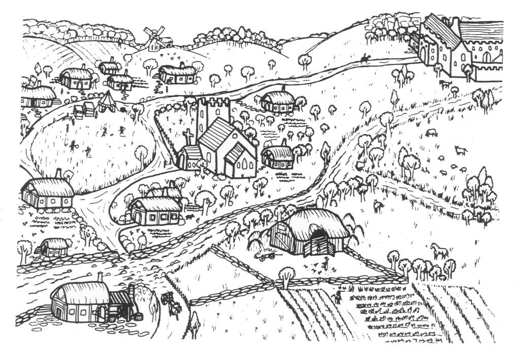 New Page 2 Coloring Pages Fantasy Village School Projects