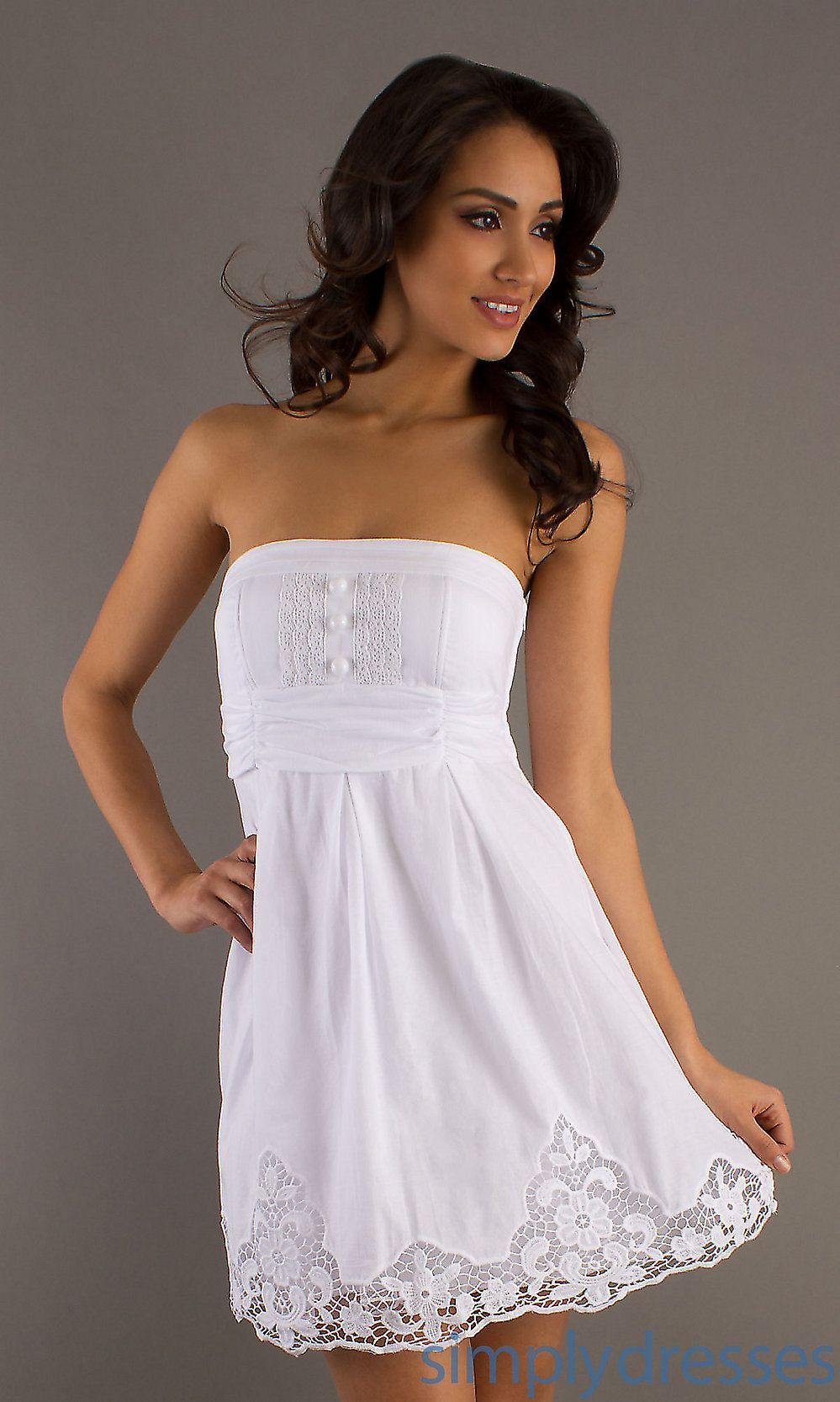 Fashion style White Short summer dresses for women for lady
