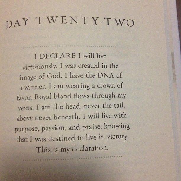 Joel Osteen I Declare Devotional day 22 | Joel Osteen