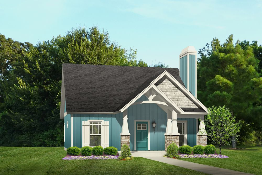 The Aiden House plan is one of