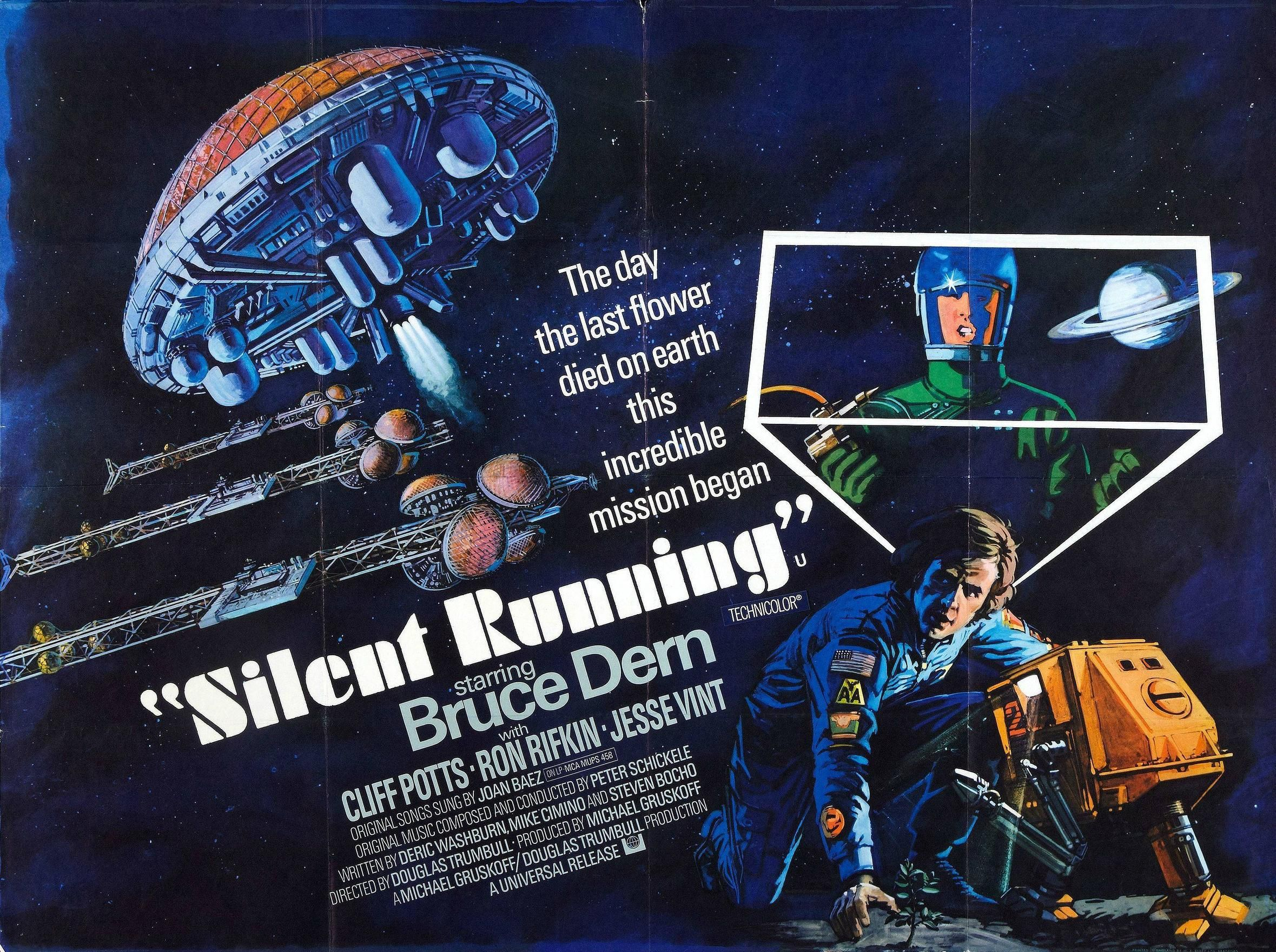 Silent Running Silent Running Best Sci Fi Movie Old Film Posters