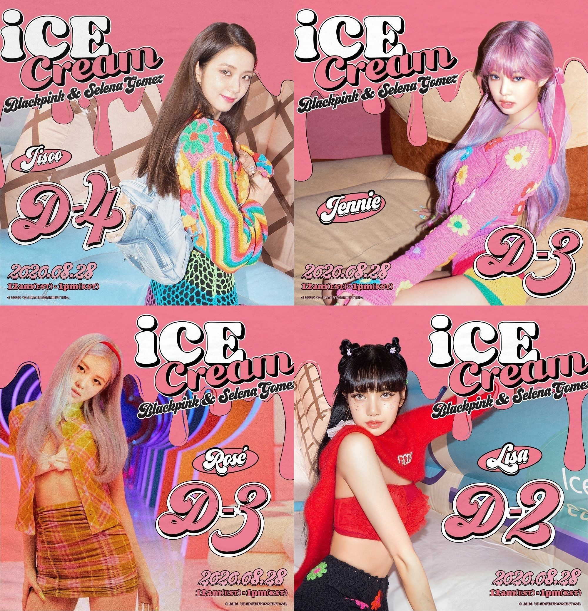Blackpink Ice Cream Lisa Jisso Rose Jennie Wallpapers Lockscreens Di 2020
