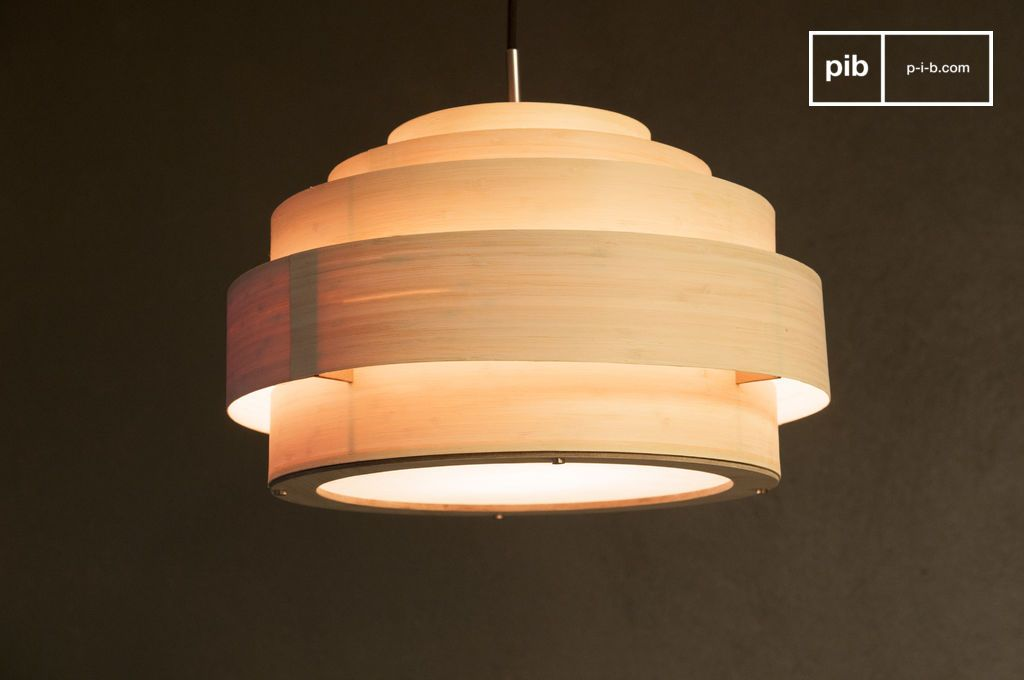 Plafoniere Da Soffitto Vintage : Plafoniera in bamboo 40cm pinterest
