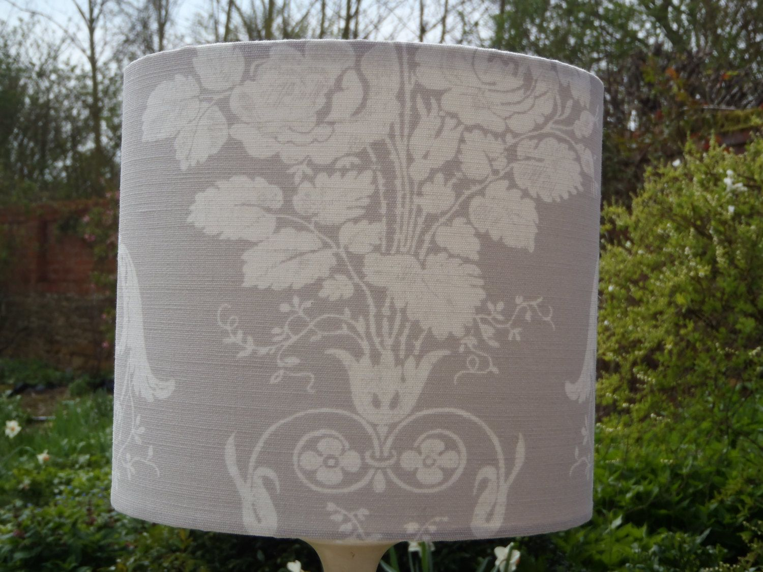 Dove grey lampshade in laura ashley josette linencotton fabric by dove grey lampshade in laura ashley josette linencotton fabric by lightandbeautiful on etsy mozeypictures Choice Image