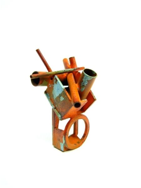 Ring by Fabrizio Tridenti.  Restricted Area, 2010.  Brass, acrylic paint