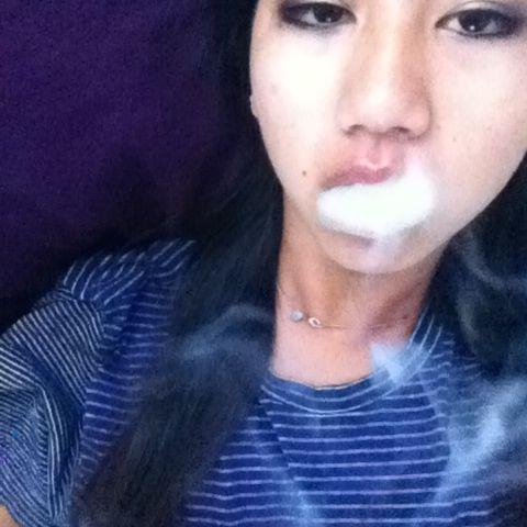 Good girl smoking