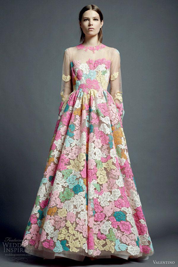 Multi color lace dress