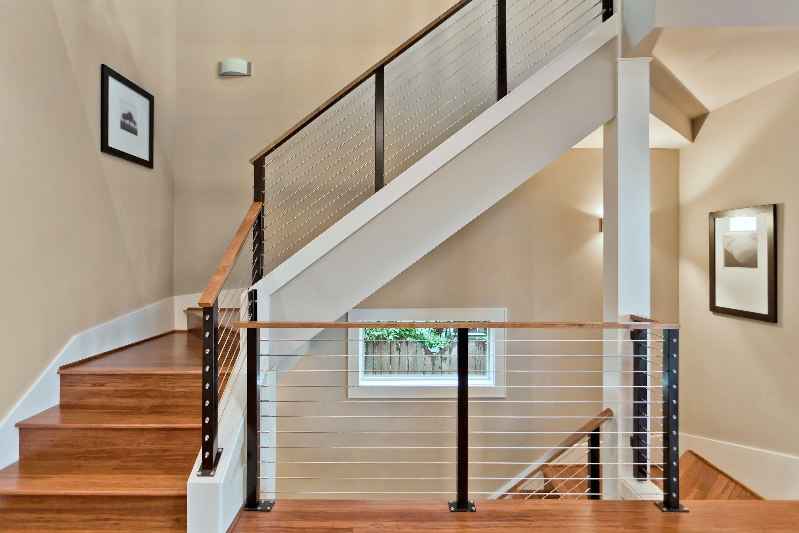 Modern cable stair rail design   Modern   Pinterest ...