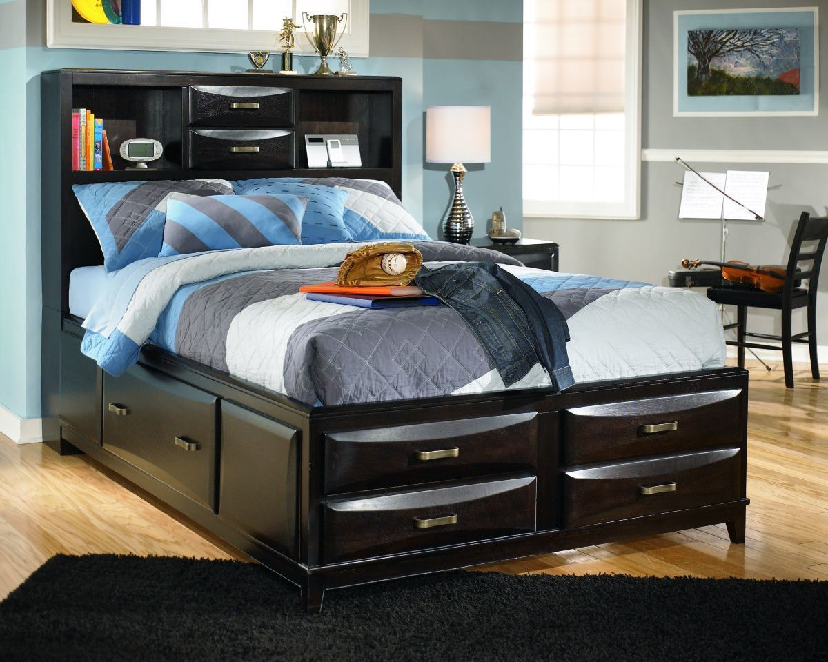 Almost Black Kira Full Storage Bed View 1