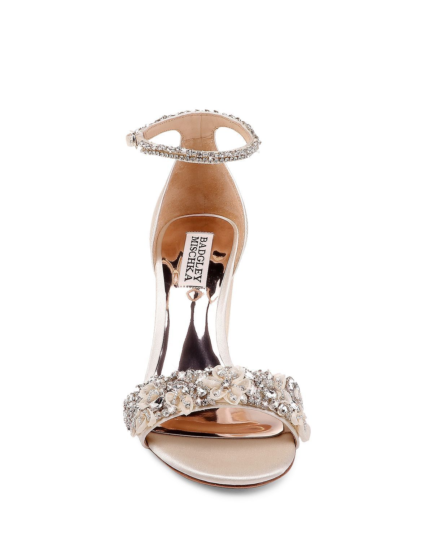 bbd01bd53e0 Badgley Mischka - Women s Finesse Embellished Block Heel Sandals