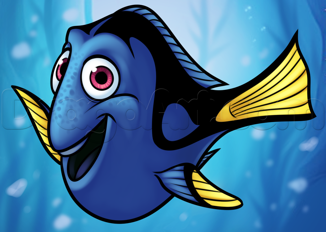 How to Draw Dory from Finding Dory, Step by Step, Disney ...