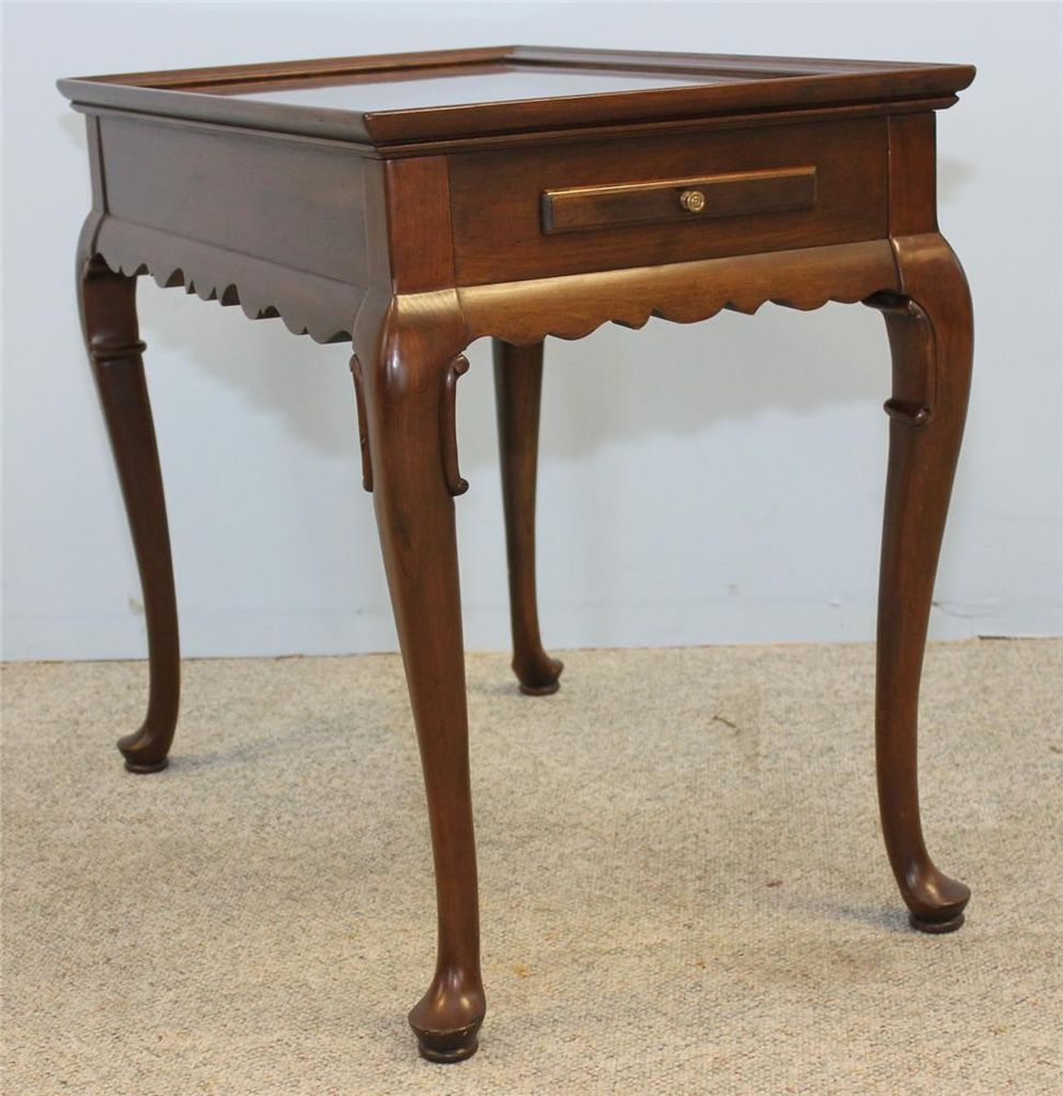 Solid Cherry Queen Anne End Tables Easy Home Decorating