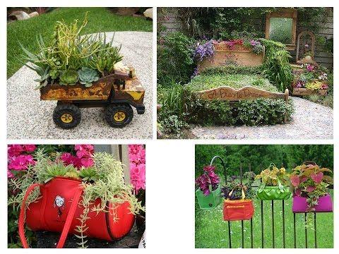 ideas para reutilizar en el jardin reciclar en jardineria youtube
