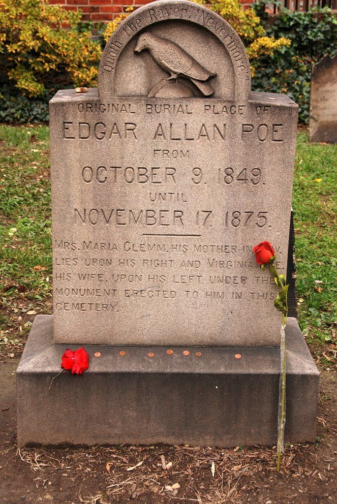 Image result for edgar allan poe gravesite