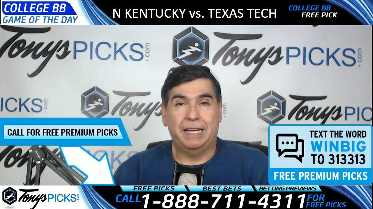 Northern Kentucky vs. Texas Tech Free NCAA Basketball