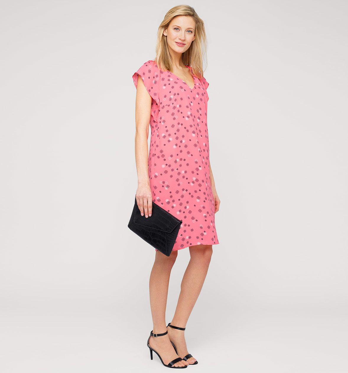 Sukienka Z Dzialu Kobiety Kolor Rozowy Niskie Ceny W Sklepie C A On Line Dresses With Sleeves Dresses Fashion