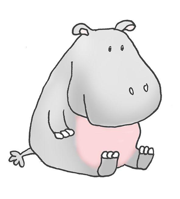 realistuc hippo illustrations cartoon hippo clipart hippo rh pinterest com au hippo clipart black and white hippo clipart cute