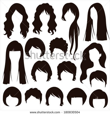 Styles Hair Silhouettes Woman Hairstyle Hair Clipart Womens Hairstyles Hair Illustration